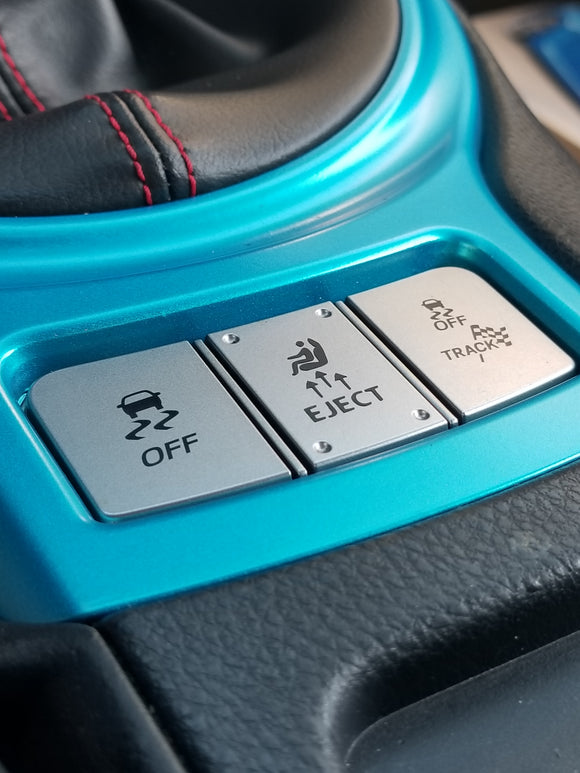 ejecto eject button seat cuz vinyl decal sticker for Scion FR-S, Subaru BRZ, Toyota GT86, and 86