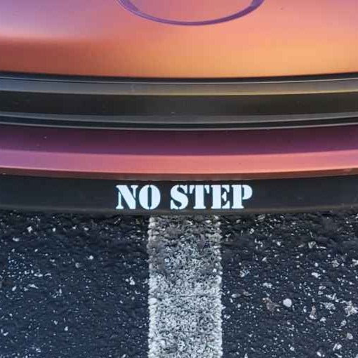 no step vinyl decal sticker lip spoiler