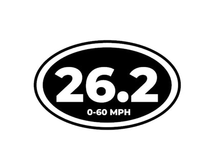 26.2 seconds 0-60 mph funny decal sticker