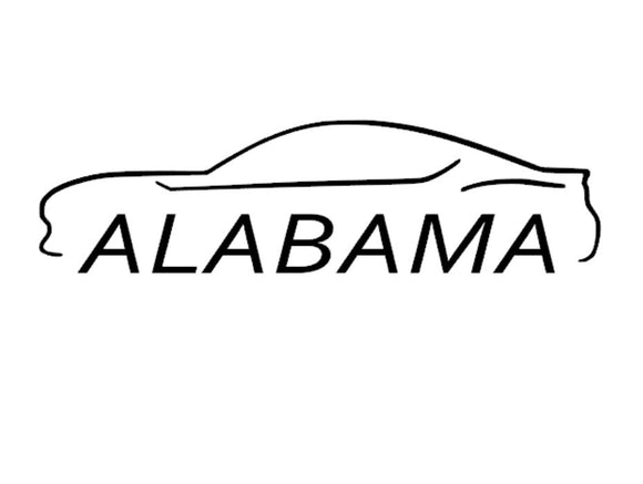 FT86 BRZ GT86 FRS FR-S 86 Vinyl Decal Sticker Bodyline State Alabama AL