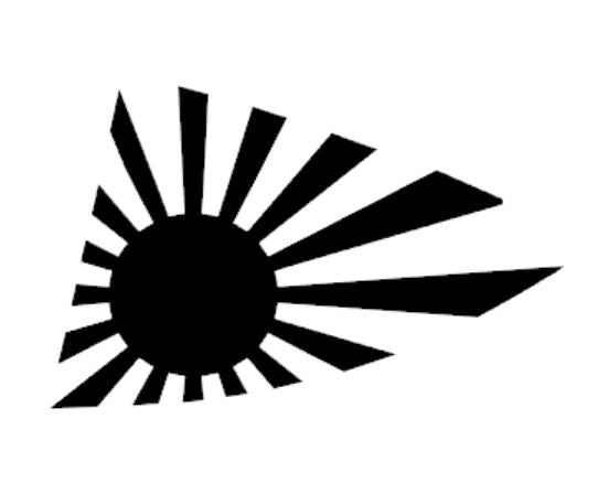 Rising Sun Window Vinyl