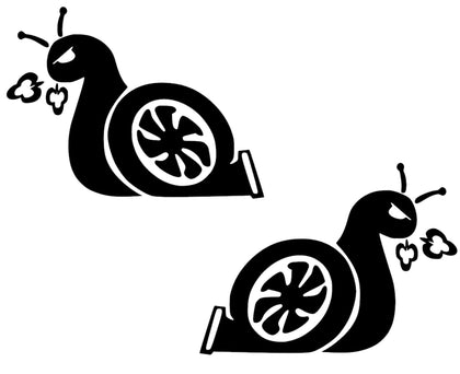 turbo snail boost vinyl decal sticker