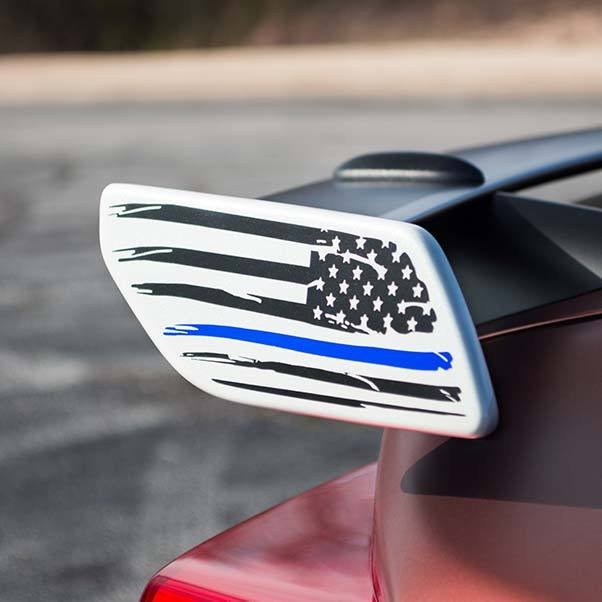 american flag spoiler decal sticker for subaru brz toyota 86 with blue stripe line