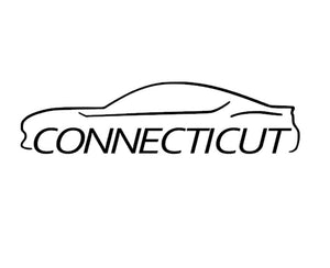 FT86 BRZ GT86 FRS FR-S 86 Vinyl Decal Sticker Bodyline State Connecticut CT