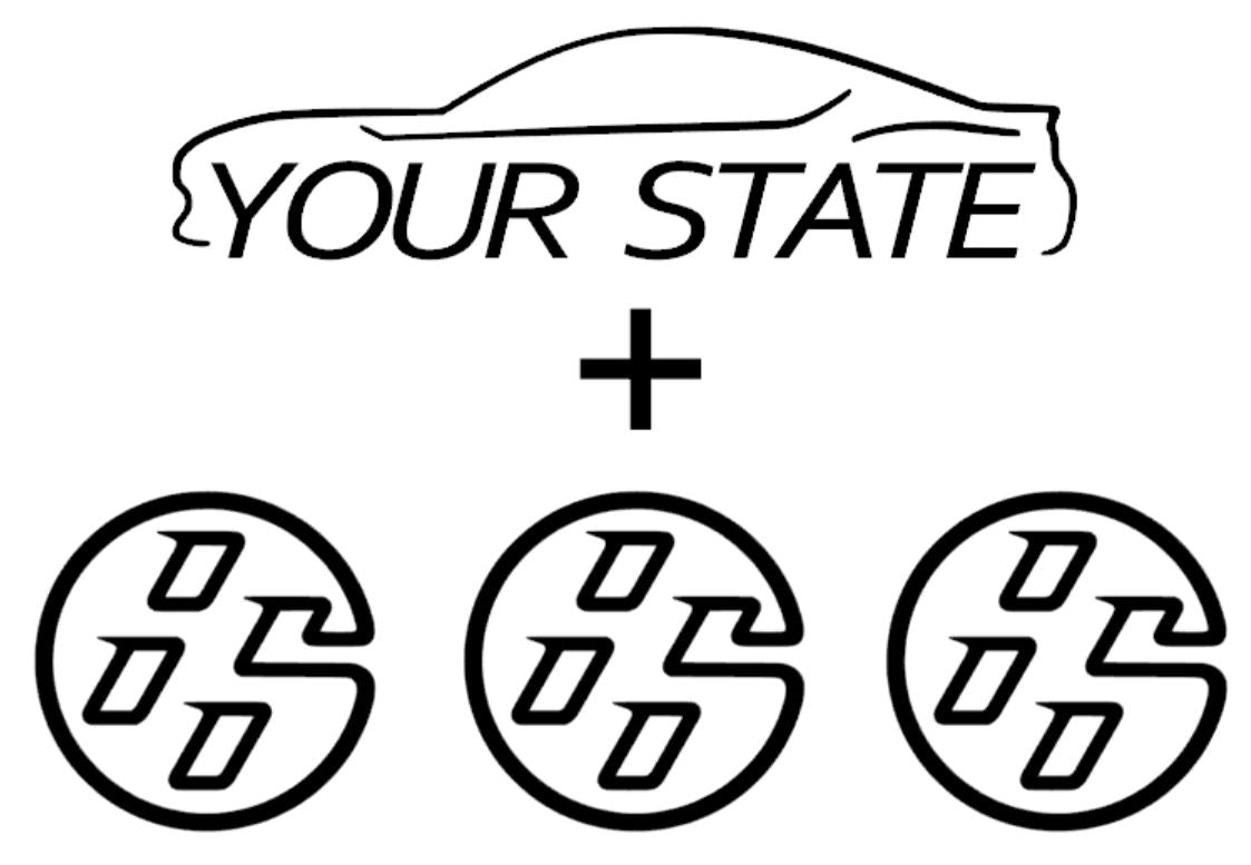 $5 State Pack - Gloss White