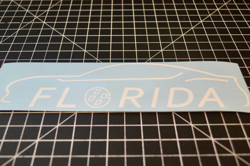 FRS BRZ GT86 FR-S FT86 86 Bodyline State Decal Florida FL