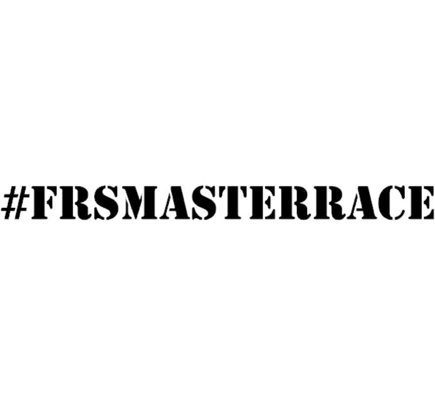 scion frs masterrace decal sticker
