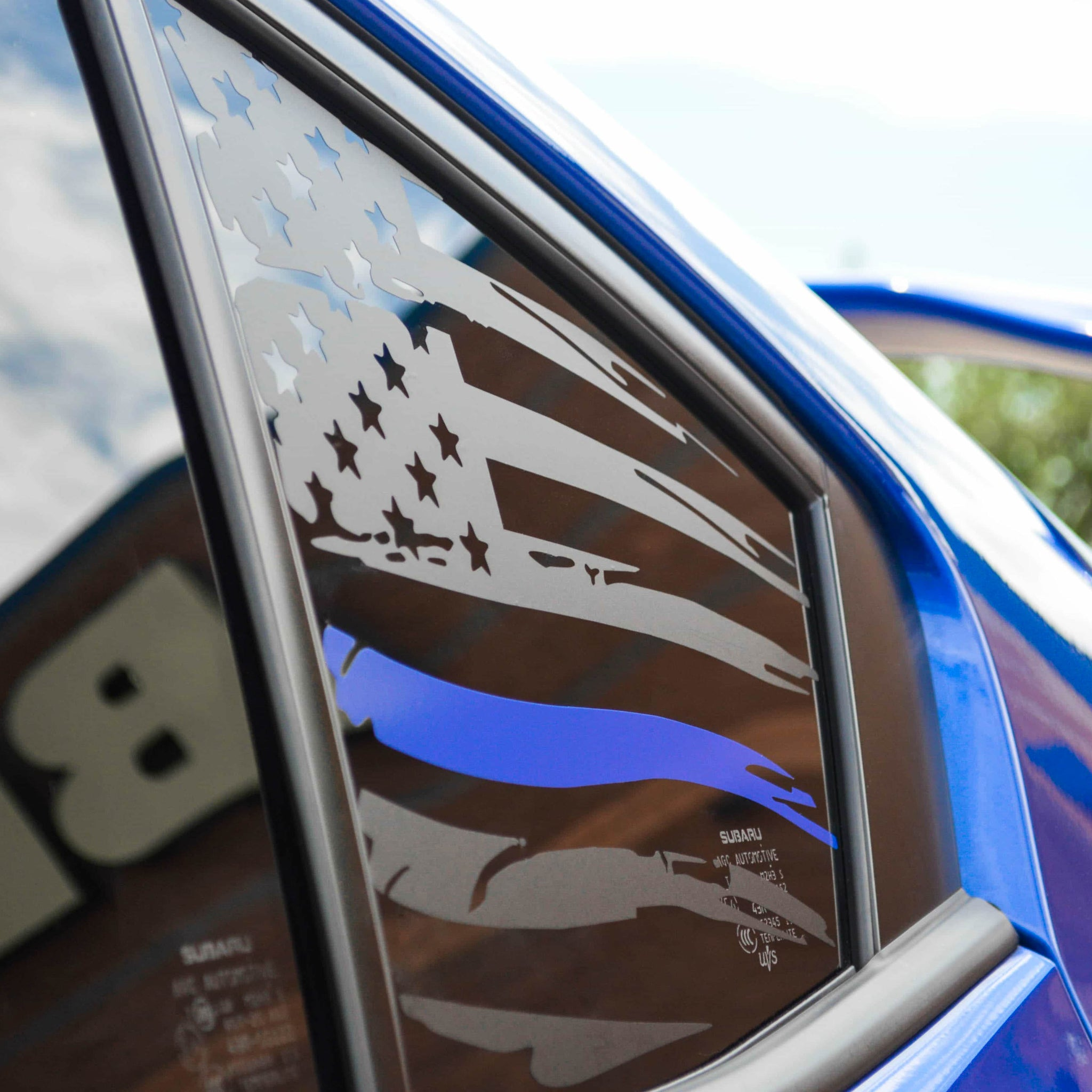 2015+ WRX: American Flag with Colored Stripe