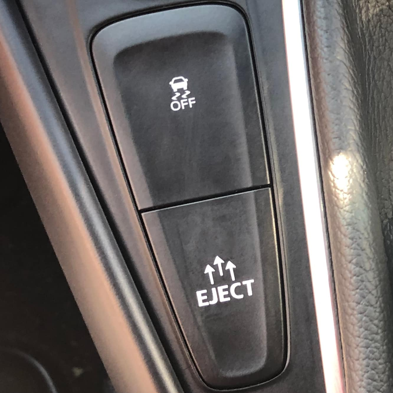 eject button sticker for ford forus rs st