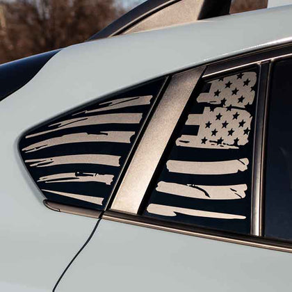 Subaru Crosstrek american flag window decal sticker matte black