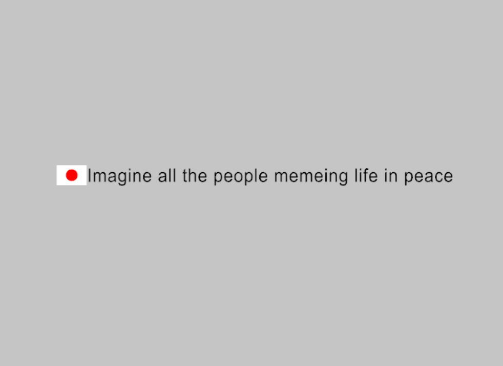 Imagine all the people memeing/living life in peace Decal