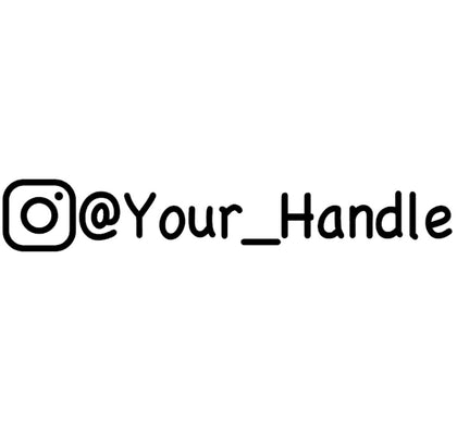Instagram handle vinyl decal sticker
