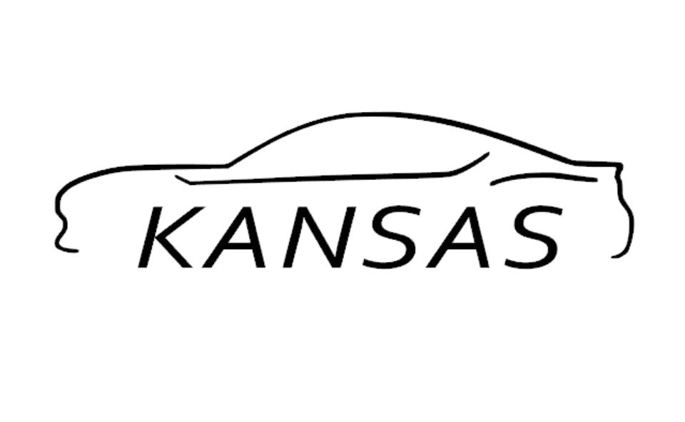 FT86 BRZ GT86 FRS FR-S 86 Vinyl Decal Sticker Bodyline State Kansas KS