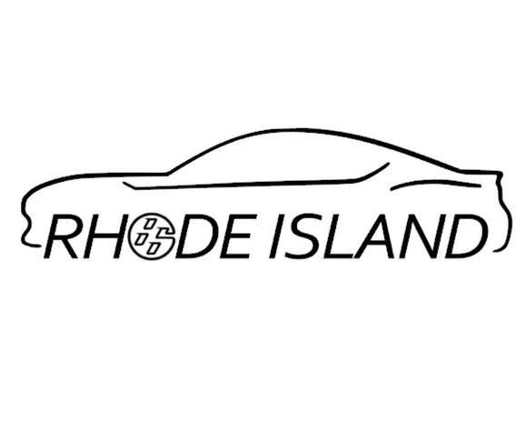 FT86 BRZ GT86 FRS FR-S 86 Vinyl Decal Sticker Bodyline State Rhode island RI