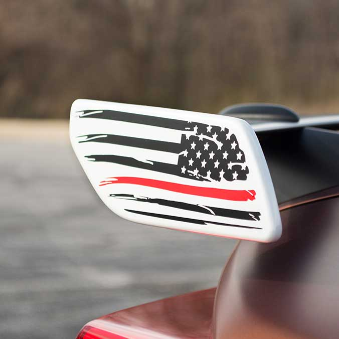 american flag spoiler decal sticker for subaru brz toyota 86 with red stripe line