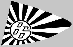 86 Rising Sun Window Decal