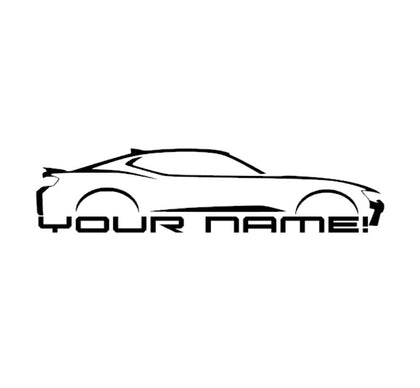 Camaro body line with custom name decal sticker
