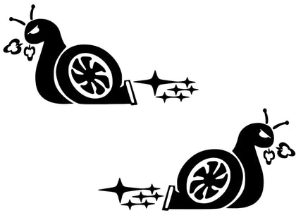 Turbo snail Subaru wrx sti boost decal sticker