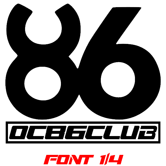 OC86 CLUB Font 1 of 4