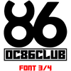 OC86 CLUB Font 3 of 4