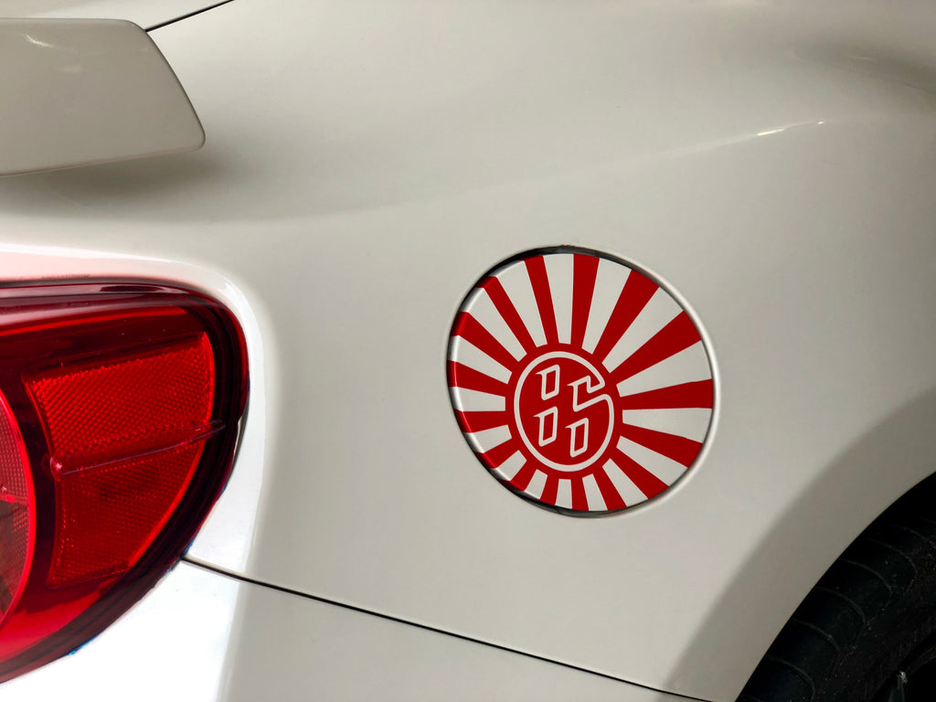 86 rising sun gas lid decal sticker for fr-s scion subaru brz toyota gt86 86