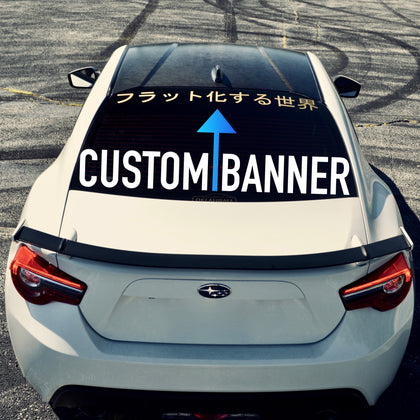 custom banner sticker vinyl for  subaru brz scion fr-s frs toyota 86 gt86 ft86 decal sticker