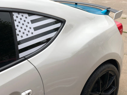 straight american flag decal sticker for Subaru BRZ, Scion FR-S, and Toyota GT86 86