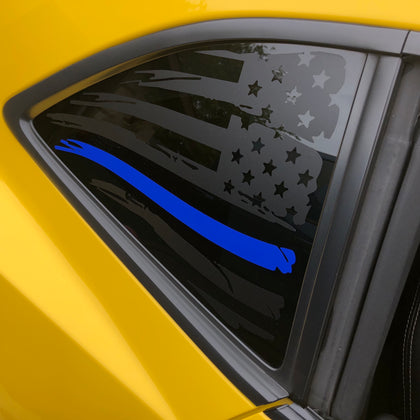 American flag decal sticker for Chevorlet camaro 2010 to 2015 with blue stripe