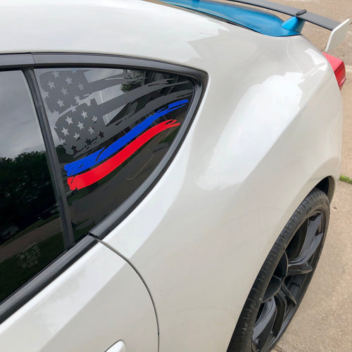 thin blue thin red line vinyl decal for frs fr-s brz gt86
