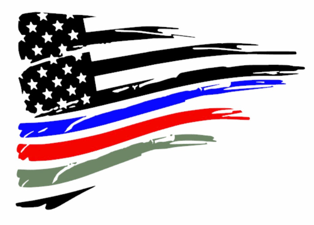 American Flag with Blue, Red, and Army Green Stripes for FR-S, BRZ, GT86, and 86
