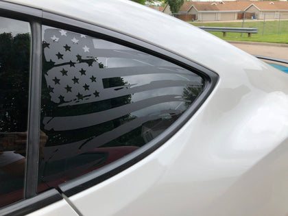 american flag vinyl decal sticker for camaro 2010 to 2015 matte black