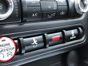 3 Pack Button overlays for Mustang 2015+