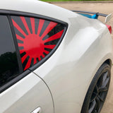 rising sun window decal