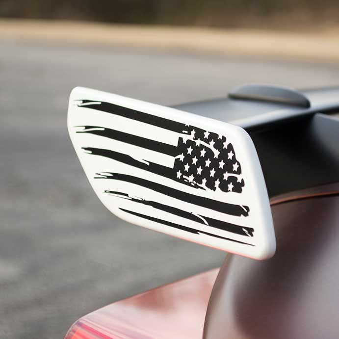 American Flag Spoiler Decal for 86 and BRZ
