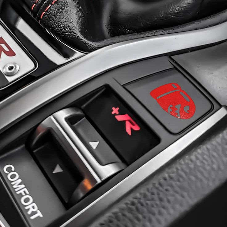 bullet button decal sticker overlay for honda civic