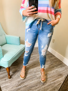 Saturday Morning Jeans-Distressed
