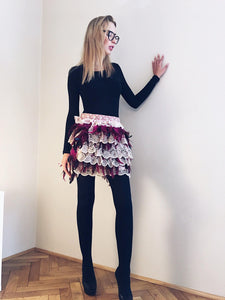 Feathers Skirt - Nezha Haute Couture