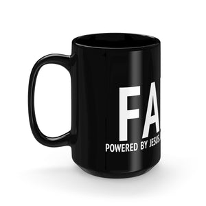 Faith Black Mug 15oz