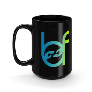 Bless A Friend Black Mug 15oz