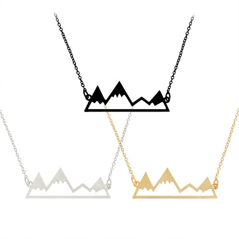 Snowy Mountain Pendant Necklace
