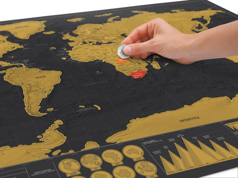 Deluxe size scratch off world travel map travel loco deluxe size scratch off world travel map gumiabroncs Images