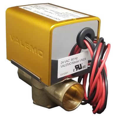 "V2417-A1S Zone Valve, 2-way, 1"", Sweat, 24 VAC, w/ End Switch"