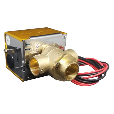 "CASE of V3313-A1S Motorized Zone Valve, 3-way, 3/4"" Sweat, 24 VAC with End Switch"