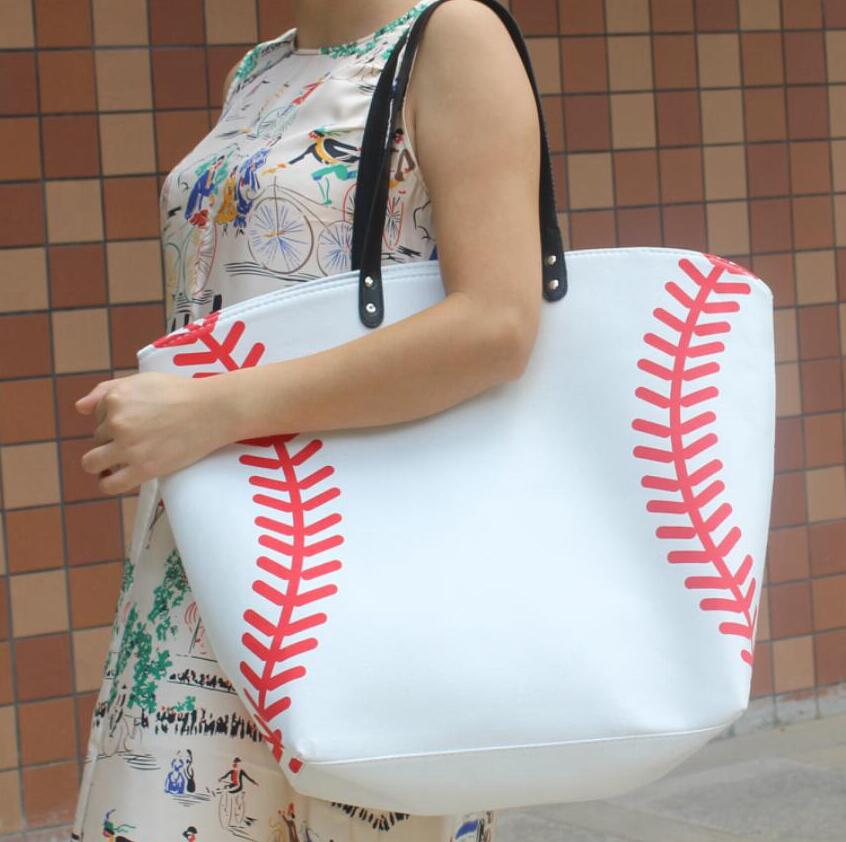 Faux Leather Sports Tote Bag (Various Sport Options)