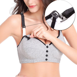 Soft Cotton Nursing Bra (Front Buckle/Wire Free)