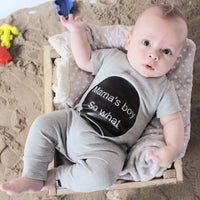 Baby Romper Mama's Boy Baby Boy Clothing Newborn Infant Short Sleeve Clothes