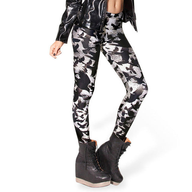 3D B&W Jack Leggings