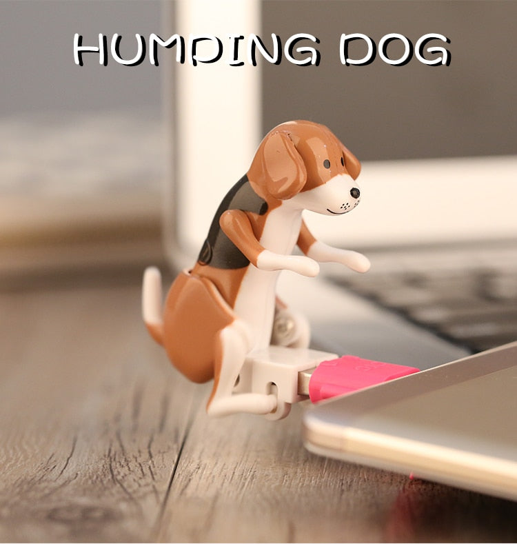 New White Mini Funny Cute USB Humping Spot Dog Toy USB Gadgets For PC Laptop