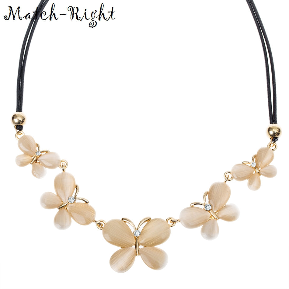 Match-Right  Statement Flower Necklaces