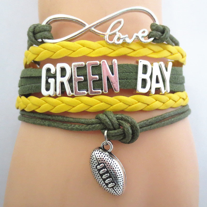 Packers Infinity Bracelet (Assorted Charm Styles)
